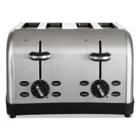 Oster Extra Wide Slot Toaster, 4-Slice, 12 3/4 x 13 x 8 1/2, Stainless Steel OSRRWF4S