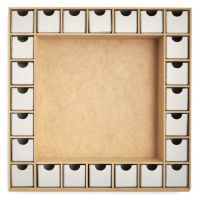 Beyond The Page MDF Square Shadow Box Advent Calendar NOTM420364
