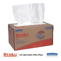 WypAll* L10 Towels, POP-UP Box, 1-Ply, 10 1/4 x 9, White, 250/Box KCC42346