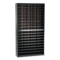 Safco Steel/Fiberboard E-Z Stor Sorter, 72 Sections, 37 1/2 x 12 3/4 x 71, Black SAF9241BLR