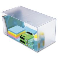 deflecto Desk Cube, Double Cube, 12 x 6 x 6 DEF350501
