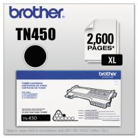 Brother TN450 High-Yield Toner, 2600 Page-Yield, Black BRTTN450