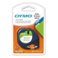 "DYMO LetraTag Paper Label Tape Cassettes, 1/2"" x 13ft, White, 2/Pack DYM10697"