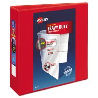 """Avery Heavy-Duty 3-Ring View Binder w/Locking 1-Touch EZD Rings, 3"""" Capacity, Red AVE79325"""