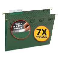 Smead Tuff Hanging Folder with Easy Slide Tab, Letter, Standard Green, 20/Pack SMD64036