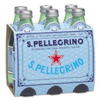 San Pellegrino Sparkling Natural Mineral Water, 8 oz Bottle, 24/Carton NLE80087