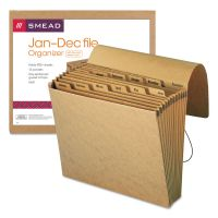 Smead Jan-Dec Indexed Expanding Files, 12 Pockets, Letter, Kraft SMD70186