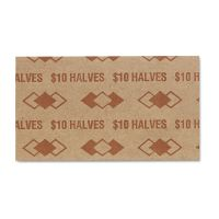 PM Company Tubular Coin Wrappers, Half Dollar Coins, $10, Pop-Open Wrappers, 1000/Pack PMC53050