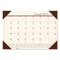 House of Doolittle Recycled EcoTones Moonlight Cream Monthly Desk Pad Calendar, 22 x 17, 2019 HOD12441