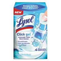 LYSOL Brand Click Gel Automatic Toilet Bowl Cleaner, Ocean Fresh, 0.17 oz, 4/Box RAC92918