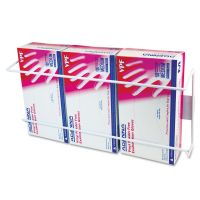Unimed Wire Wall-Mount Glove Box Holder, 3-Box, Horizontal, Stainless Steel, White CTTBVTH004055