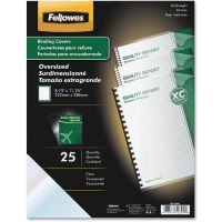 Fellowes Crystals Presentation Covers with Round Corners, 11 1/4 x 8 3/4, Clear, 25/Pack FEL52309