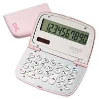 Victor 909-9 Limited Edition Pink Compact Calculator, 10-Digit LCD VCT9099