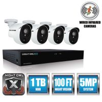 Night Owl 4 Channel Extreme HD Video Security DVR, 5MP Resolution NGTXHD50144PB