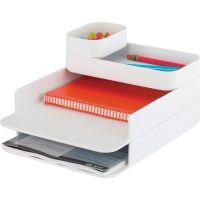 Safco Stacking Plastic Desktop Sorter Set SAF3285WH