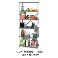 "Tennsco Industrial Steel Shelving for 87"" High Posts, 36w x 24d, Medium Gray, 6/Carton TNN6Q23624MGY"
