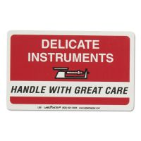 LabelMaster Shipping/Handling Self-Adhesive Label, 6 x 6, DELICATE INSTRUMENTS, 500/Roll LMTL85