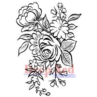"""Deep Red Cling Stamp 2""""X3"""" NOTM107196"""