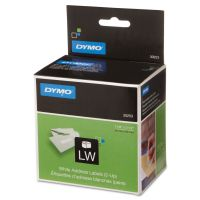 DYMO LabelWriter 2-UP Address Labels, 1 1/8 x 3 1/2, White, 700 Labels/Roll DYM30253