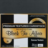 Core'dinations Premium Textured Black Tie Affair Cardstock  NOTM239461