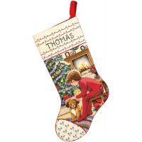 Janlynn Waiting For Santa Stocking Counted Cross Stitch Kit NOTM488938