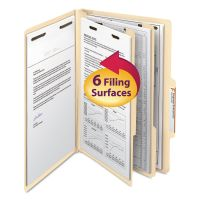 Smead Manila Classification Folders with 2/5 Right Tab, Legal, Six-Section, 10/Box SMD19000