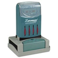 Xstamper ECO-GREEN VersaDater Message Dater, 2 1/8 x 1 5/16, PAID, Blue/Red XST66210