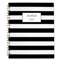 Cambridge Black & White Striped Hardcover Notebook, 11 x 8 7/8, 80 Sheets MEA59010