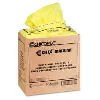 Chix Masslinn Dust Cloths, 24 x 24, Yellow, 50/Bag, 2 Bags/Carton CHI0911