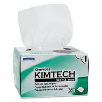 Kimtech* Kimwipes Delicate Task Wipers, 1-Ply, 4 2/5 x 8 2/5, 280/Box, 30 Boxes/Carton KCC34120