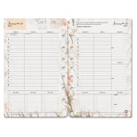 FranklinCovey Blooms Dated Weekly/Monthly Planner Refill, Jan.-Dec., 5 1/2 x 8 1/2 FDP35448