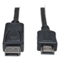 Tripp Lite DisplayPort Cable, HDMI M/M, Black TRPP582006