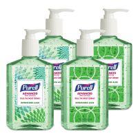 PURELL Advanced Instant Hand Sanitizer with Aloe, 8 oz Bottle, 4/Pack GOJ967406DECOPK