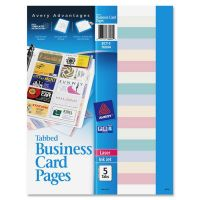 Avery Business Card Pages AVE76004