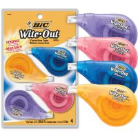 "BIC Wite-Out EZ Correct Correction Tape, Non-Refillable, 1/6"" x 400"", 4/Pack BICWOTAPP418"