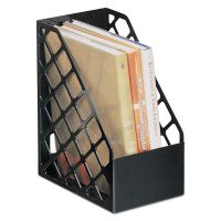 Universal Recycled Plastic Large Magazine File, 6 1/4 x 9 1/2 x 11 3/4, Black UNV08119