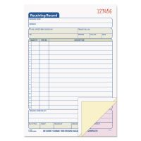 TOPS Receiving Record Book, 5 9/16 x 7 15/16, Three-Part Carbonless, 50 Sets/Book TOP46260
