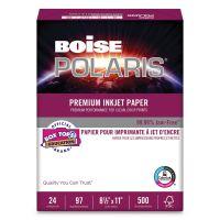 Boise POLARIS Premium Inkjet Paper, 97 Bright, 24lb, 8 1/2 x 11, White CASPP9624
