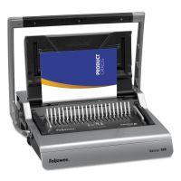 Fellowes Galaxy 500 Manual Comb Binding System, 500 Sheets, 20 7/8 x 17 3/4 x 6 1/2, Gray FEL5218201