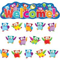 Trend Owl-Stars! Welcome Bulletin Board Set TEP8367