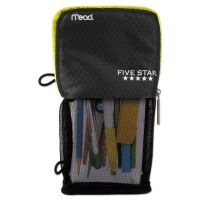 Five Star Stand 'N Store Pencil Pouch, 4 1/2 x 8, Black MEA73993