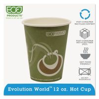 Eco-Products Evolution World 24% Recycled Content Hot Cups - 12oz., 50/PK, 20 PK/CT ECOEPBRHC12EW