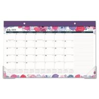 AT-A-GLANCE Academic Compact Monthly Desk Pad, 17 3/4 x 10 7/8, Midnight Rose, 2018-2019 AAGD1101705A