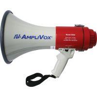 AmpliVox 25W Piezo Dynamic Megaphone, Pistol Grip, Wrist Strap, 2 lbs., 1-Mile Range APLS602