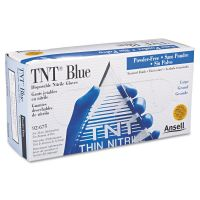 AnsellPro TNT Disposable Nitrile Gloves, Non-powdered, Blue, Large, 100/Box ANS92675L