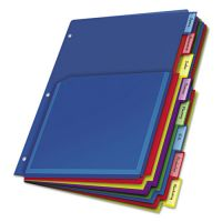 Cardinal Poly Expanding Pocket Index Dividers, 8-Tab, Multi-color Tab, Letter, 1 Set CRD84013