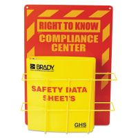 LabelMaster SDS Compliance Center, 14 x 20, Yellow/Red LMTH121370