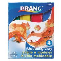 Prang Modeling Clay Assortment, 1/4 lb each Blue/Green/Red/Yellow, 1 lb DIX00740