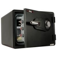 FireKing One Hour Fire and Water Safe with Combo Lock, 0.85 cu. ft., Graphite FIRKY09131GRCL