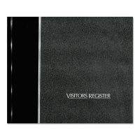National Visitor Register Book, Black Hardcover, 128 Pages, 8 1/2 x 9 7/8 RED57802